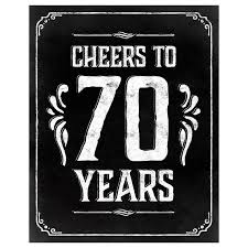 Cheers to 70 years sign printable sign 70th birthday sign 70th