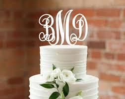 monogram cake topper etsy