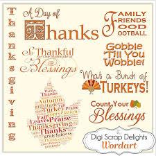 thanksgiving word digital titles for digital scrapbooking