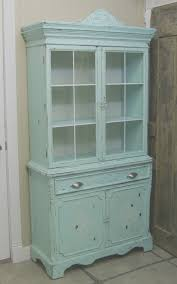 shabby chic china cabinet shabby 1940 s aqua painted china cabinet cupboard chic
