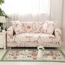 arm chair cover flower design elastic l shaped sofa cover loveseat universal
