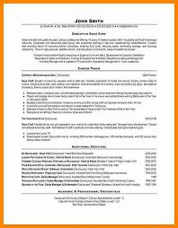 Example Of Chef Resume Chef Resumes Examples Resume Example And Free Resume Maker