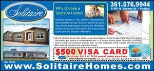 Solitaire Mobile Homes Floor Plans Choose A Quality Solitaire Home And Get A 500 Visa Card