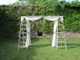 Pergola Wedding Decorations by Decorated Ladder For Wedding Wedding Ladders Arbor Ladder