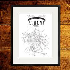 Map Guest Vintage 1930 Athens Ga Map 12x18 Via Etsy I Love Maps And I Love