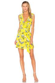 dvf wrap dress diane furstenberg wrap dress in silese acid yellow revolve