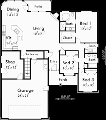 one story floor plans with bonus room one story house plans with bonus room over garage h