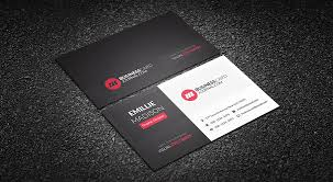 Red Business Cards Free Corporate Business Card Templates