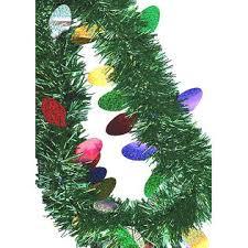 christmas tinsel f c 12 ft green christmas tinsel garland with colorful
