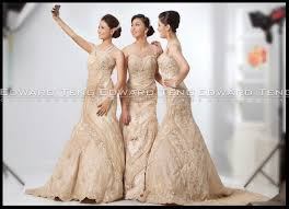 Designer Wedding Dresses Gowns Edward Teng Philippine Bridal Gowns Triplet Brides