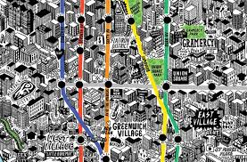 Times Square Map New York Mapped By Hand Webdesigner Depot