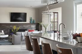 Kitchen Family Room Contemporary Kitchen