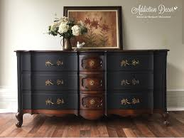 Bassett French Provincial Bedroom Furniture by Two Tone Finish Serpentine Dresser French Provincial General