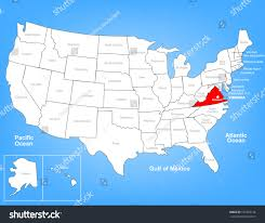 Map Of The State Of Virginia by Vector Map United States Highlighting State Stock Vector 151853126