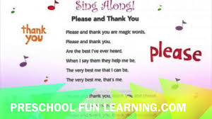 please and thank you song preschool fun learning music youtube