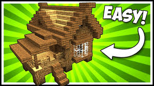 efficient wooden lodge cabin house minecraft tutorial youtube