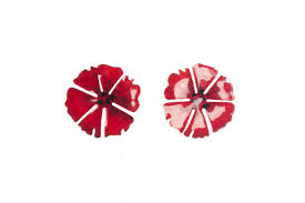 poppy earrings made poppy stud earrings