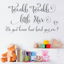 twinkle twinkle little star wall sticker quote by making twinkle twinkle little star wall sticker quote