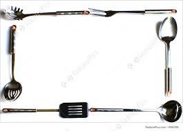 stylish design ideas kitchen utensils border decorating clear