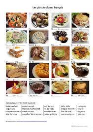 cuisine typique alimentation des plat typiques français fiche d exercices fiches