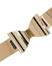gold bow belt lyst paul smith asos metal plate bow waist belt in black