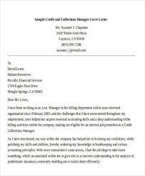debt collection manager cover letter
