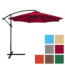 Best Offset Patio Umbrella Best Choice Products 10ft Offset Hanging Outdoor