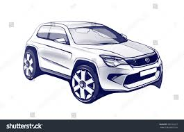 wrecked car drawing modern car concept sketch stock illustration 386563027 shutterstock