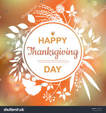 happy thanksgiving card design branch stock vector