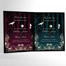halloween wedding save the date cards elegant gothic wedding