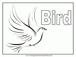 bird outline kids coloring