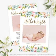 birth announcements templates for photographers photo card