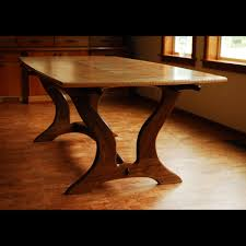 Maple Dining Room Set by Hand Crafted Curly Maple Walnut Dining Table By Blackstone Design