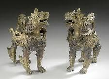 fu dog statues foo dog tibetan bronze antique figurines statues ebay