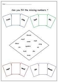 kids activity printable numbers french learning ordering