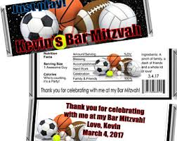 bar mitzvah giveaways sports theme favors etsy