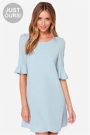 Light Blue Dress Shift Dress Short Sleeve Dress 43 00