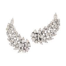 diamond ear cuff exquisite diamond ear cuffs in black white graziela gems