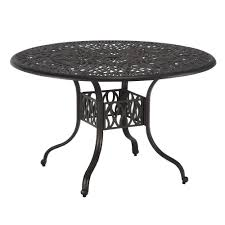 Hampton Bay Patio Dining Tables Patio Tables The Home Depot - 60 inch round wrought iron outdoor dining tables