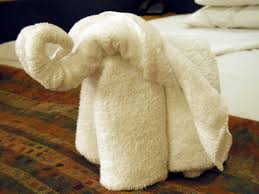 towel folding ideas for bathrooms towel origami elephant uses 1 bath towel and 1 towel really