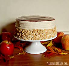 caramel apple layer cake say it with cake