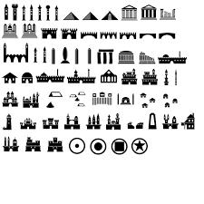 Map Legend Symbols Map Symbols Photoshop Brushes Castles Etc By Jatna Icons Drawing