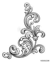 vintage baroque victorian frame border monogram floral engraved