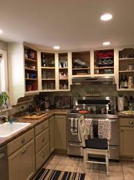 antique white kitchen cabinets with subway tile backsplash subway tile backsplash update