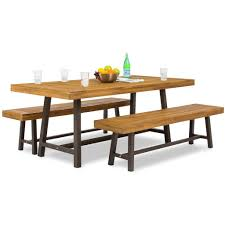 3 piece dining room set 3 piece acacia wood picnic dining table u2013 best choice products