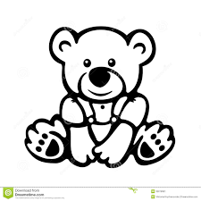 vector of cute baby bear silhouette stock image image 36018991