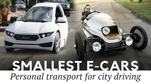 smallest cars top 10 smallest cars and best 2 seater electric vehicles for city
