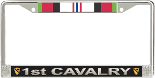 afghanistan ribbon cavalry division afghanistan veteran service ribbon license plate