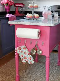 repurposed kitchen island a table repurposed into a bubblegum pink kitchen island pictures
