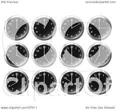 Office Wall Clocks Royalty Free Rf Clipart Illustration Of A Digital Collage Of